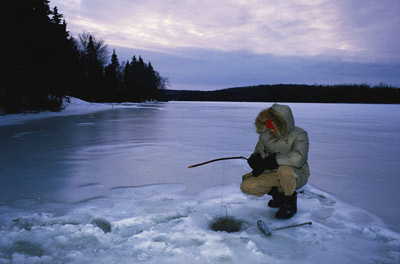 Ice fish without a fishing license Feb. 13-14 in NYS