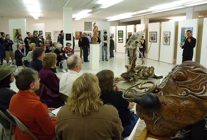 A view from the NACC's Holiday Extravaganza Gallery Show in November, 2010.