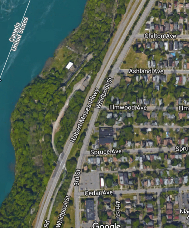 The Robert Moses Parkway - soon to be renamed - effectively cuts off the City of Niagara Falls from its Albany-owned waterfront.