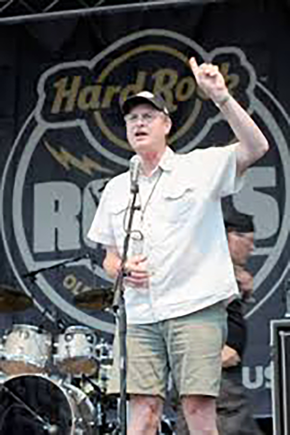 Mayor Paul Dyster spent more than $700,000 of public money on a series of Hard Rock concerts. Happily, he got to emcee many of those concerts.