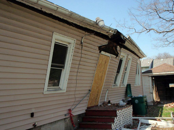 A small mistake - not putting up support beams in the attic led to this Centre Ave. home's collapse. Thankfully the Isaiah 61 students had left the building before the home fell down.