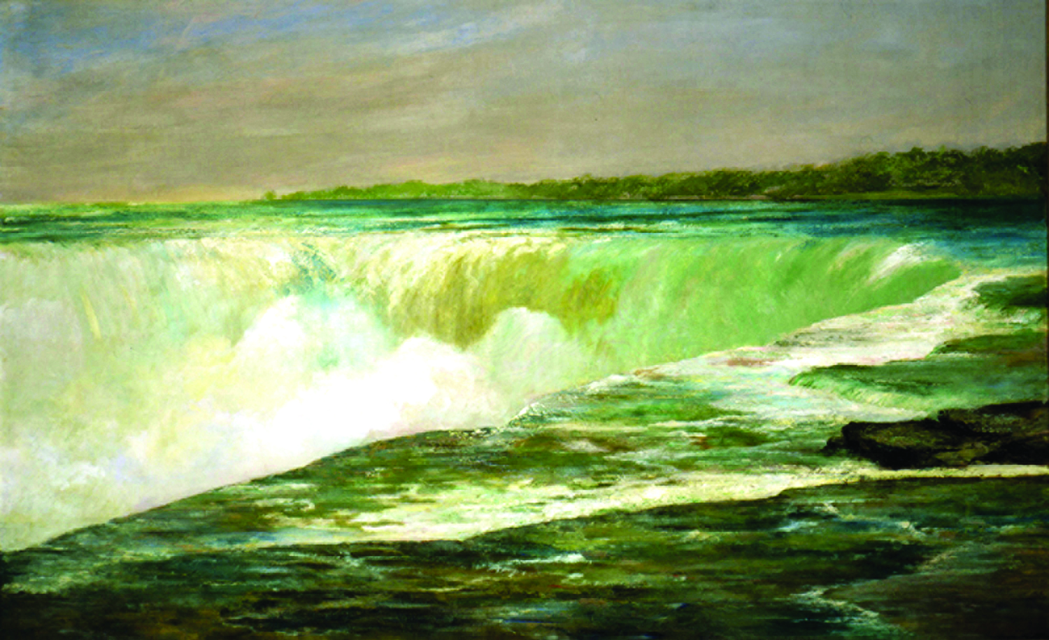 William Morris Hunt gave Church a run for his money in the 19th Century, as seen here is his 1874 oil, Niagara.