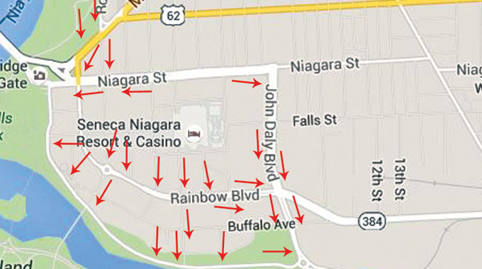 """State DOT to Niagara Falls Tourists: """"Get Out of Town!"""""""
