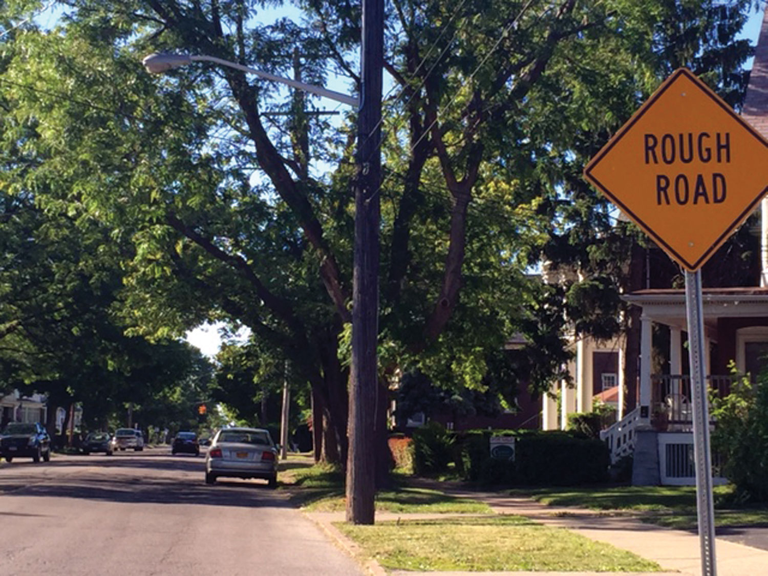 Signs Of The Times: Rough Road Signs are Easier to  Install Than Fixing Rough Road