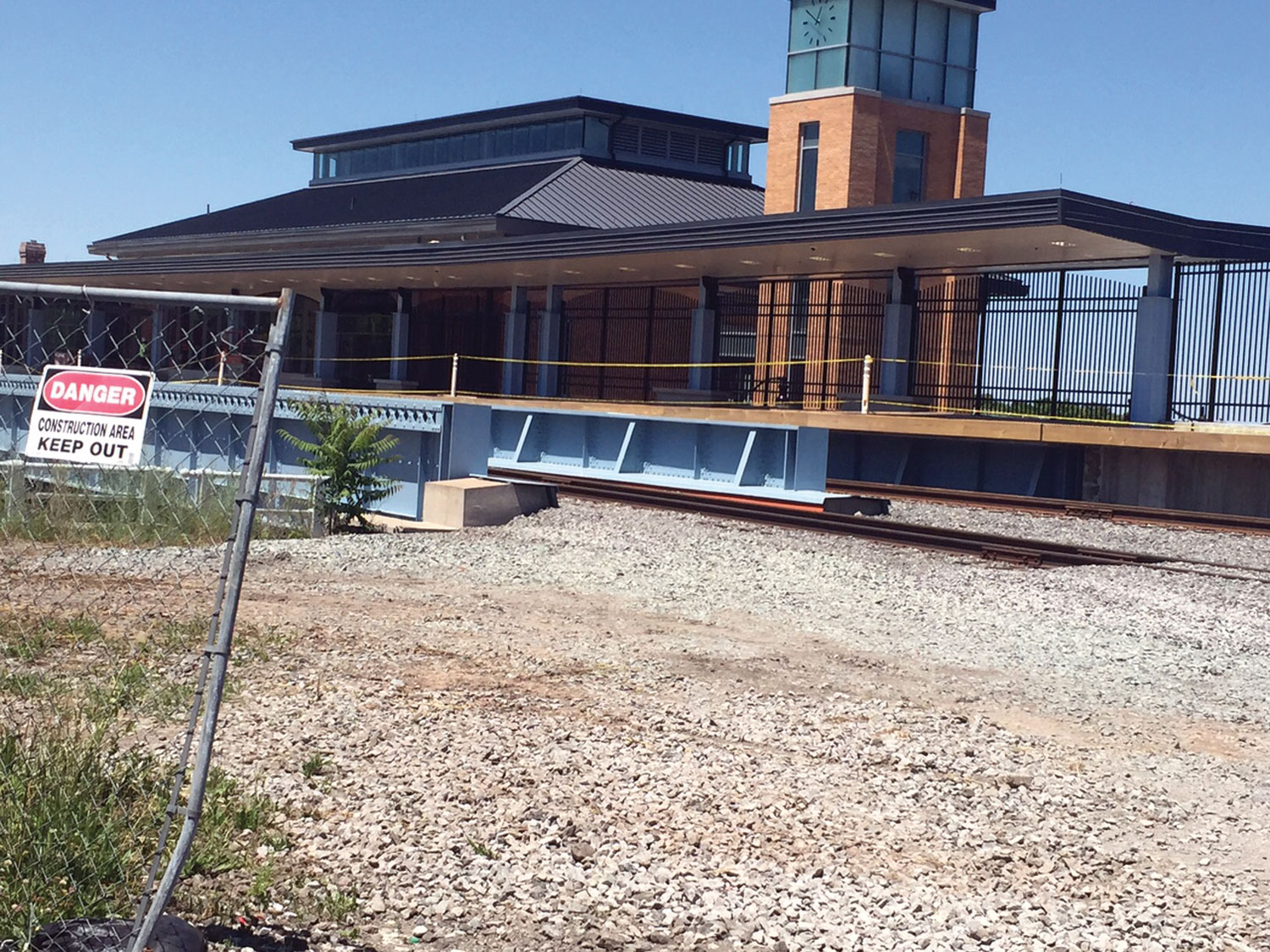Train station nears completion but it doesn't matter. It's going to be empty anyway.