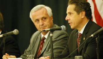 Mark Hamister and Gov. Andrew Cuomo who helped his campaign donor get a free hotel.