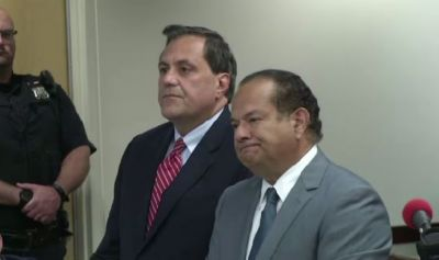 Steve Pigeon with his attorney Paul Cambria.