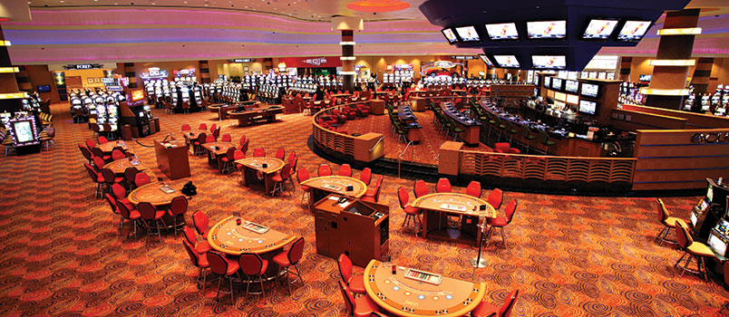 Delaware North's casinos aren't in luxury resorts, they're in downtrodden midwest locations like this spartan gaming floor outside of economically depressed Davenport, Iowa.