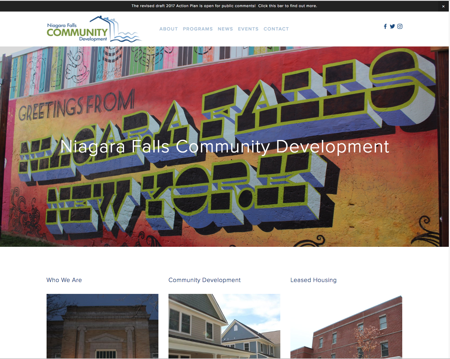 Try calling Community Development; You might as well call the White House