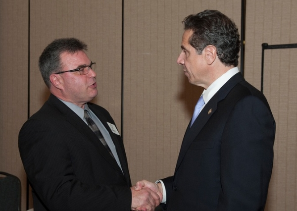 Water Board member Nick Forster and Gov. Cuomo in a 2013 photo.