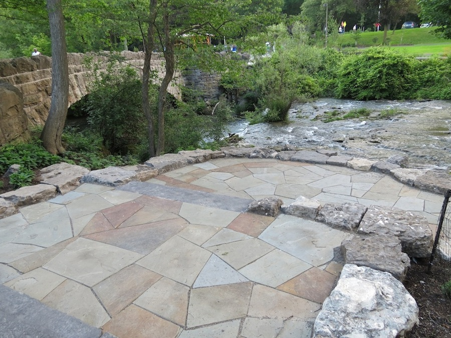 Flat stone pavers from Three Sisters Island