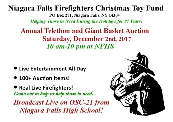 NF Firefighters Christmas Toy Fund Telethon and Basket Auction to be held on Saturday