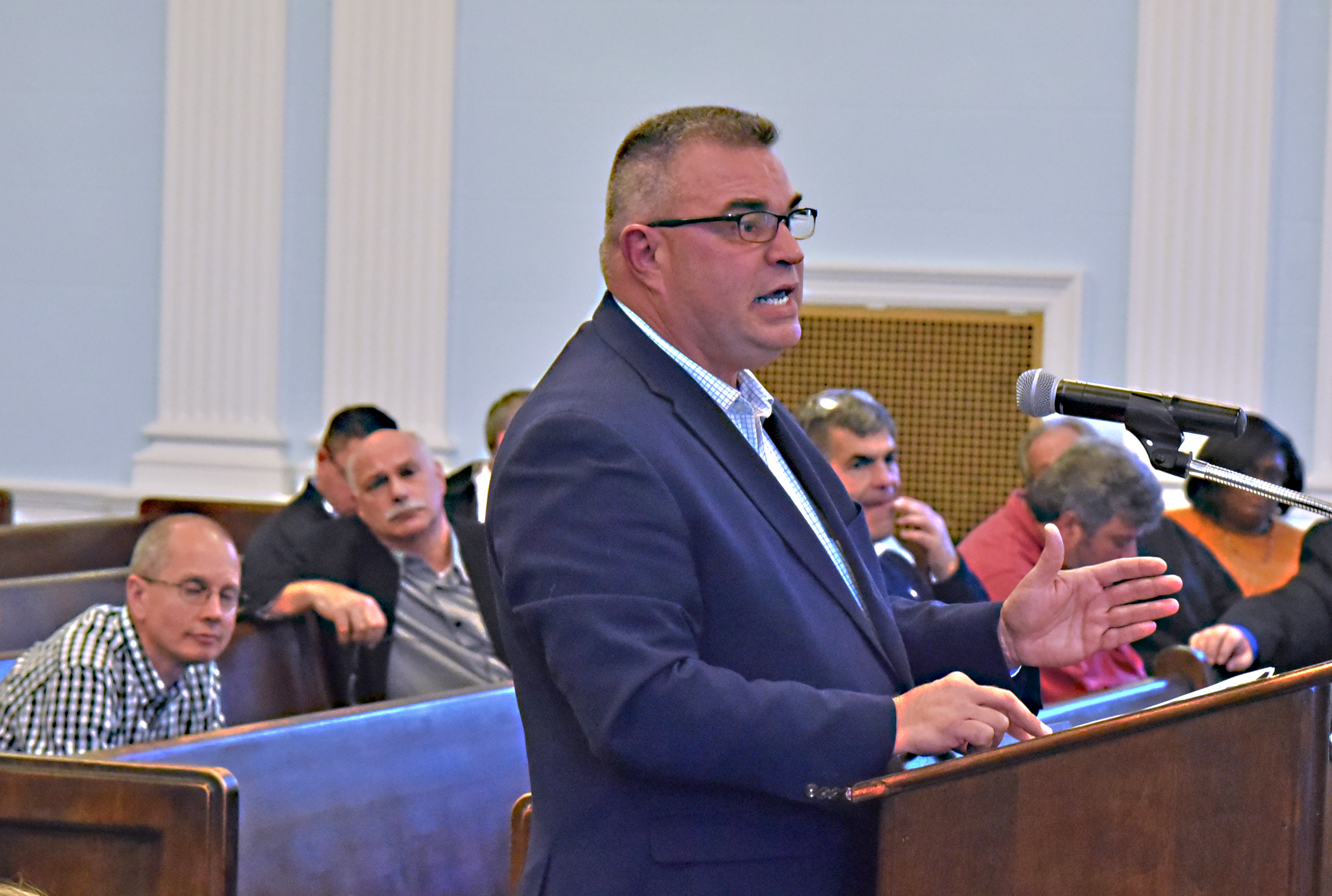 The Niagara Falls Water Board was significantly revamped at the top levels earlier this year, with the influential Nick Forster serving as common council representative. Forster says many of the problems the city is grappling with were ignored by the previous regimes. Photo by Joseph Kissel.