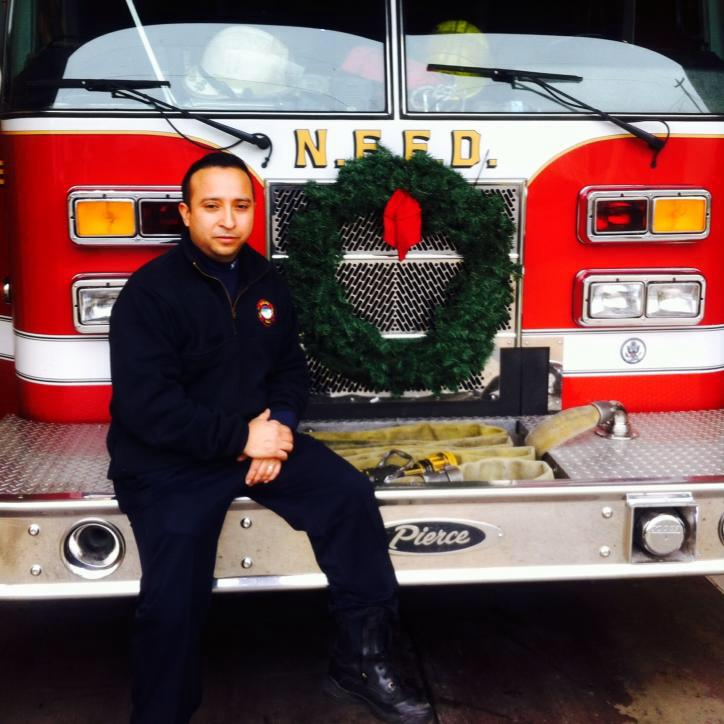 Risky Sanabria, president of Local 714 Firefighters
