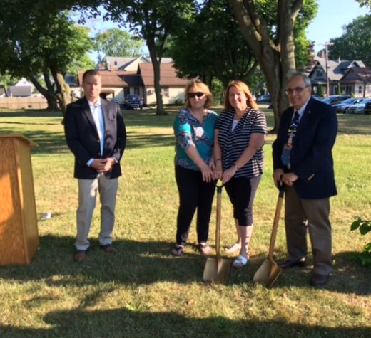 Senator Ortt joined Mayor Art Pappas and residents Friday for a groundbreaking ceremony on the Children's Memorial Garden at Brauer Park in North Tonawanda.