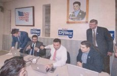 Mayor Paul Dyster and current Mayoral Candidate Seth Piccirillo during Dyster's most recent re-election campaign