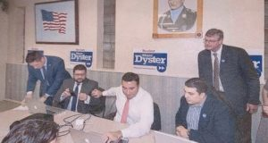 Mayor Paul Dyster and current Mayoral Candidate Seth Piccirillo during Dyster's most recent re-election campaign.