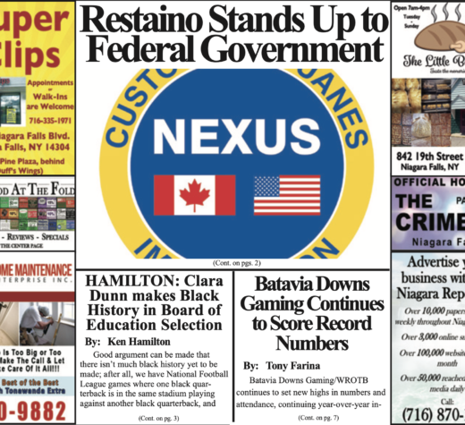 February 12th, 2020, Edition of the Niagara Reporter Newspaper