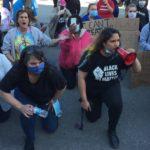 Lockport Mayor Michelle Roman Kneels With Demonstrators; Police Kneel As Well