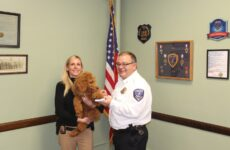 "Therapy Dog ""Remy"" is Sworn in as the Newest Member of the North Tonawanda Police Departmen"